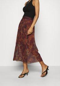 Mos Mosh - PLISSÉ SKIRT - A-line skirt - purple - 2