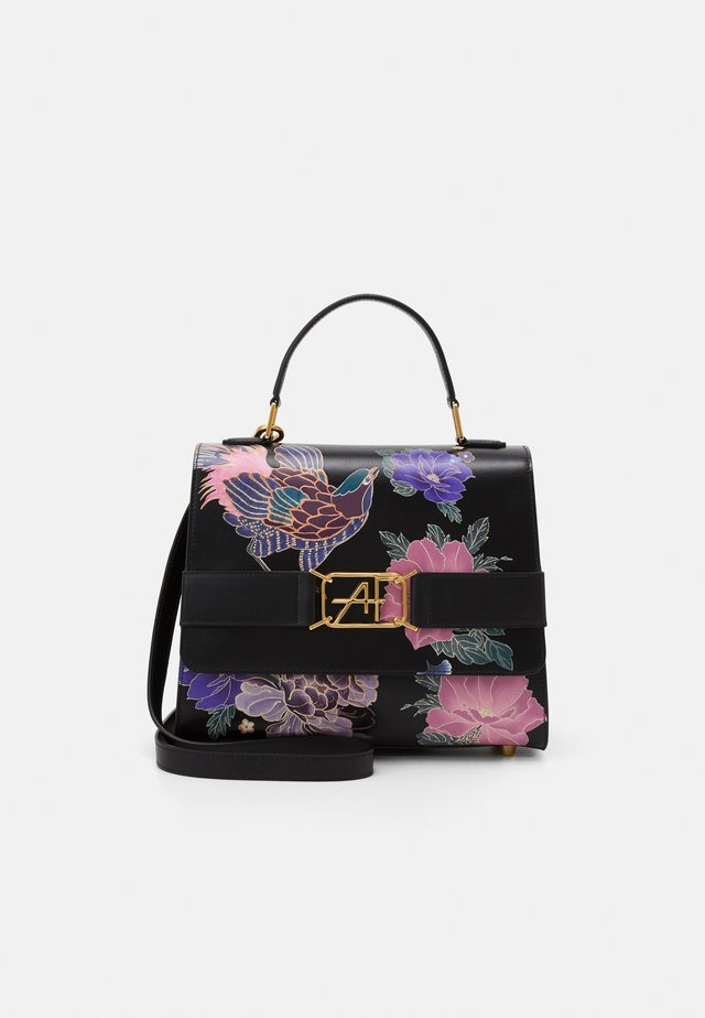 FLORAL TOP HANDLE - Across body bag - fantasy/black