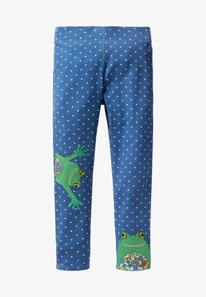 MIT APPLIKATION - Leggings - Trousers - elisabethanisches blau, pünktchen/frosch