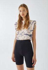 PULL&BEAR - Shorts - mottled black - 4