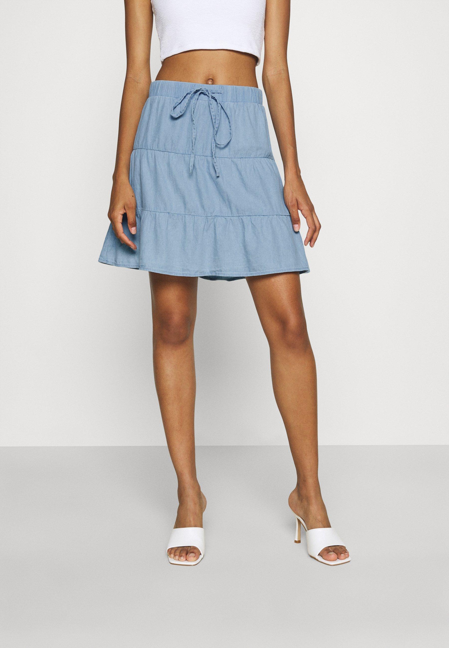Mujer CHAMBRAY SKIRT - Minifalda