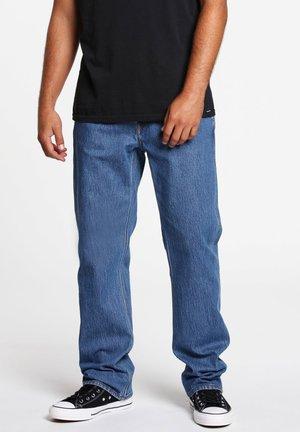 MODOWN DENIM - Straight leg jeans - mid_marboled_indigo
