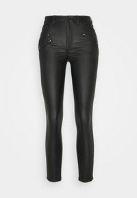 Vila - VICOMMIT COATED ZIP PANTS - Jeans Skinny Fit - black - 3