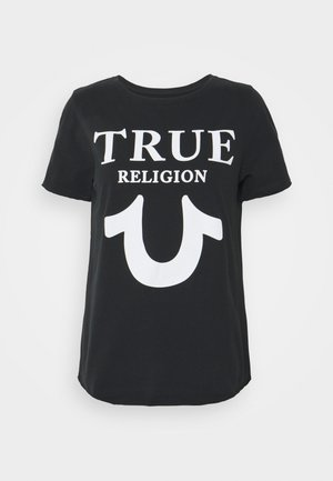 CREW TRUE LOGO - Print T-shirt - black
