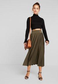 Anna Field Petite - A-line skirt - olive night - 1