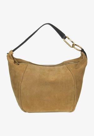 HANDTASCHE FARRAH HOBO M SUEDE - Handbag - pale honey