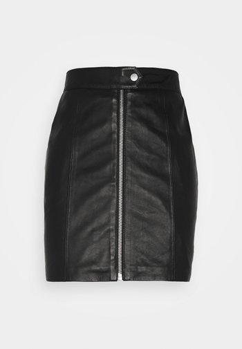 LISS SKIRT - Mini skirt - black