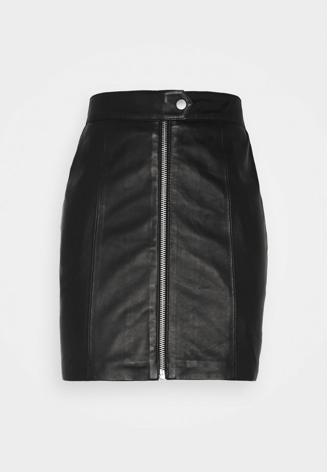LISS SKIRT - Minirok - black