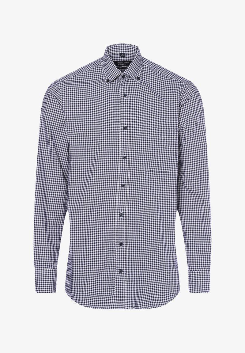 Andrew James - Shirt - marine weiß