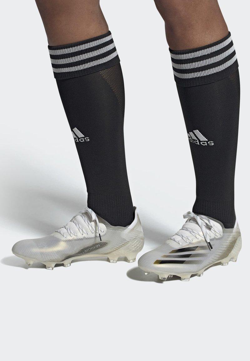 adidas Performance - X GHOSTED.1 FOOTBALL BOOTS FIRM GROUND - Fodboldstøvler m/ faste knobber - ftwwht/cblack/metgol