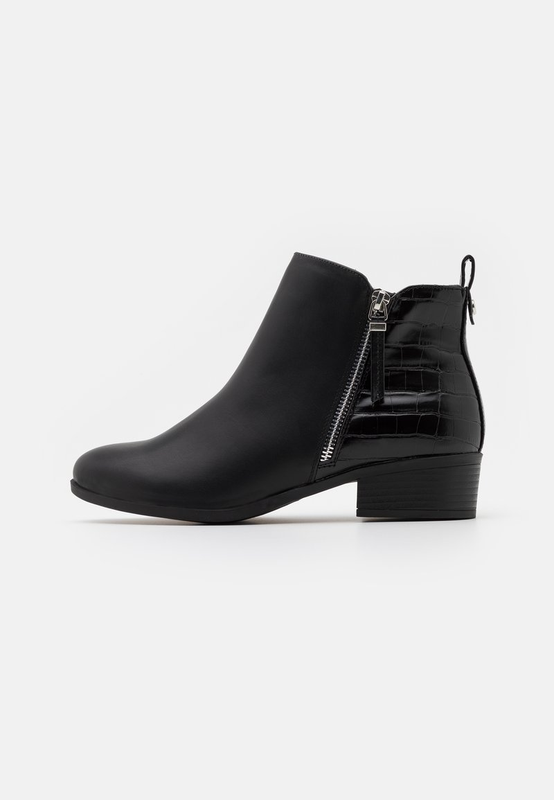 Dorothy Perkins Wide Fit - WIDE FIT MACRO SIDE ZIP  - Ankle boots - black