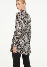 comma - Button-down blouse - black paisley - 2
