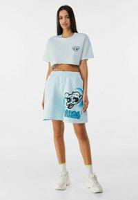 Bershka - POWERPUFF GIRLS - T-shirt imprimé - light blue - 1