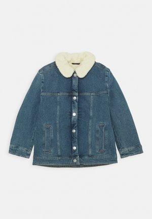 JEANS JACKET - Winter jacket - blue dark