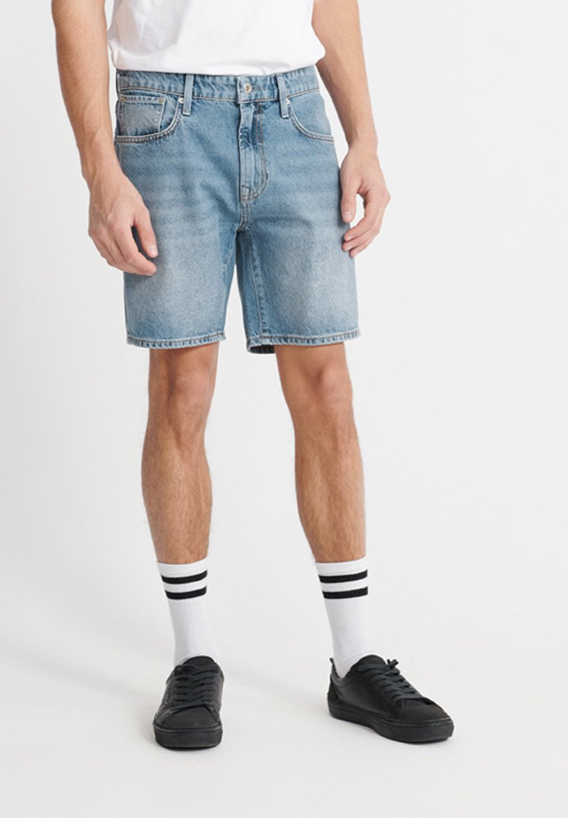 Uomo SUPERDRY 05 CONOR TAPER SHORTS - Shorts di jeans