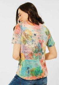 Cecil - Print T-shirt - orange - 1