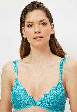 Triangle bra - blue