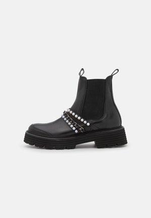 POWER - Platform ankle boots - schwarz