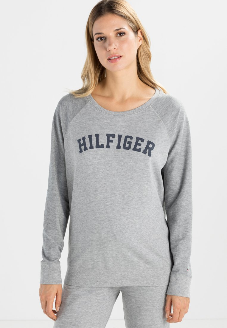 Tommy Hilfiger - ICONIC CREW NECK TRACK - Pyjama top - grey