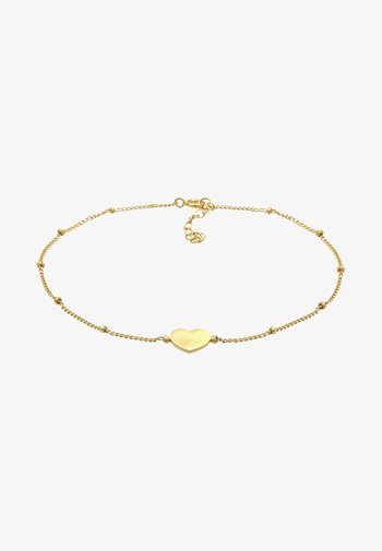 HEART LOVE ANKLET - Bracelet - gold-coloured
