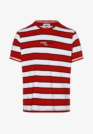 Print T-shirt - rot weiß
