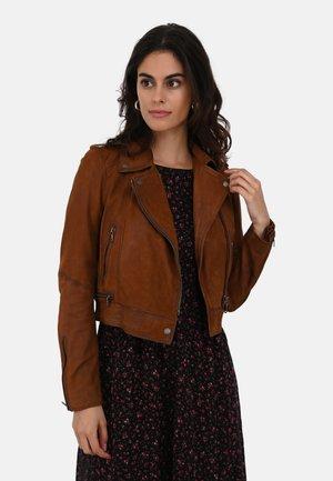 YOKO - Leather jacket - chestnut