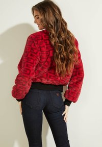 Guess - Bomber Jacket - rot/merf. - 2