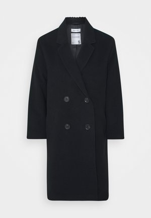 OVERSIZED DOUBLE BREASTED COAT - Classic coat - black