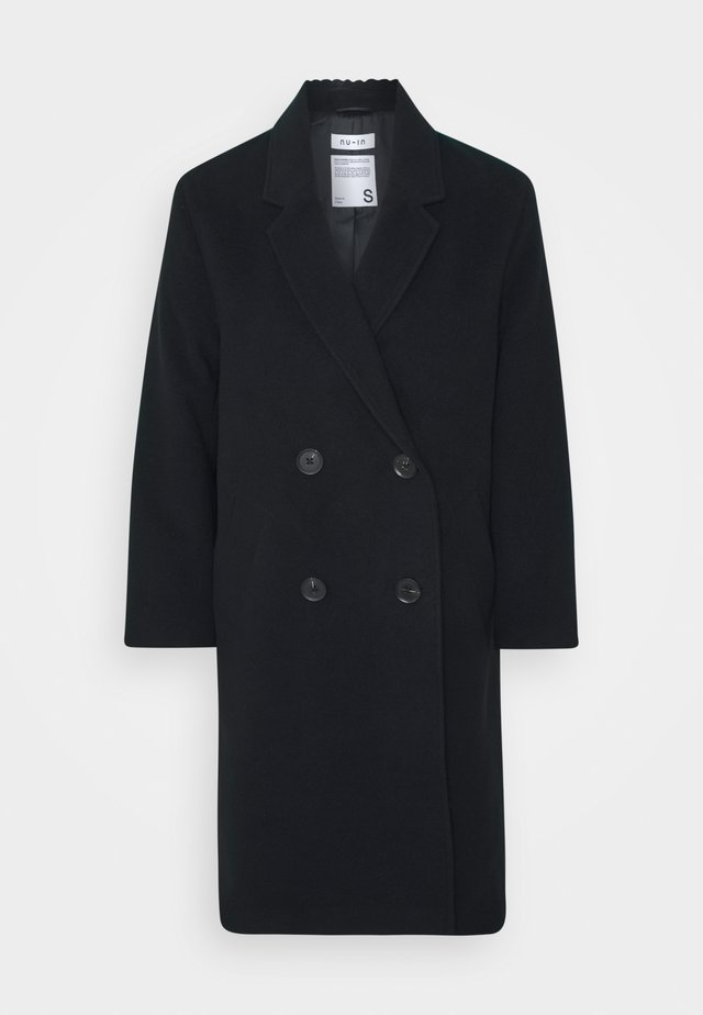 OVERSIZED DOUBLE BREASTED COAT - Manteau classique - black