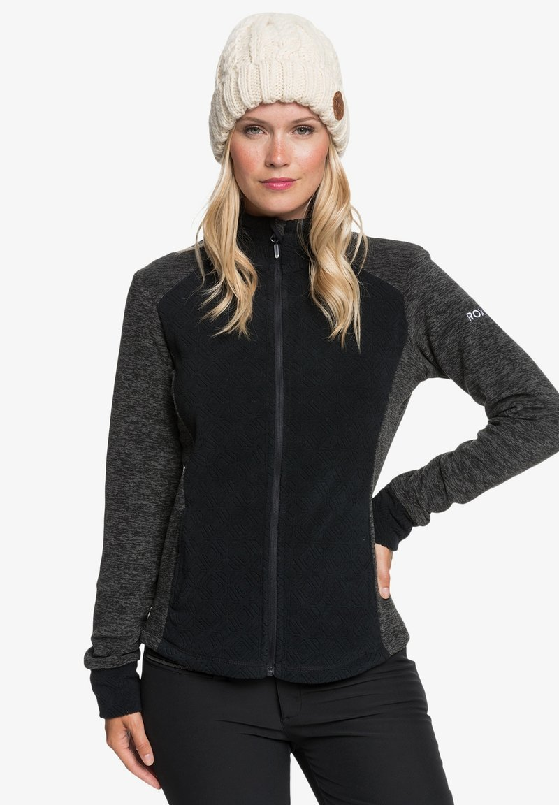 Roxy - MIT REISSVERSCHLUSS  - Fleece jacket - true black