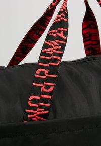 Puma - ESS BARREL BAG - Sports bag - black/pink alert - 5