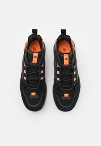 adidas Performance - TERREX HIKSTER LOW - Hiking shoes - core black/dough solid grey/signal organge - 3