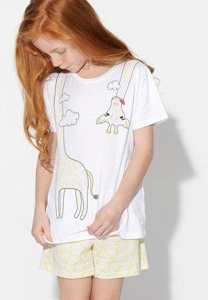 GIRAFFE - Nattøj sæt - bianco st.giraffa