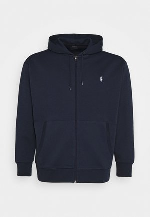 DOUBLE TECH HOOD - Felpa aperta - aviator navy