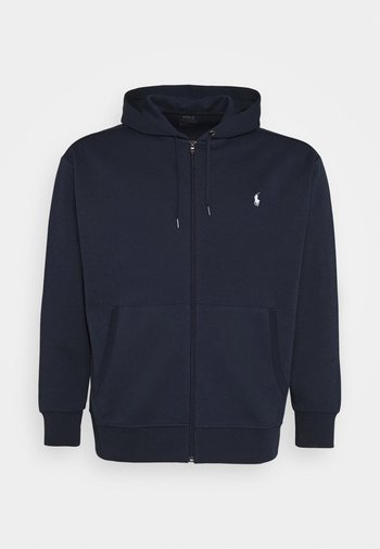 DOUBLE TECH HOOD - Zip-up sweatshirt - aviator navy