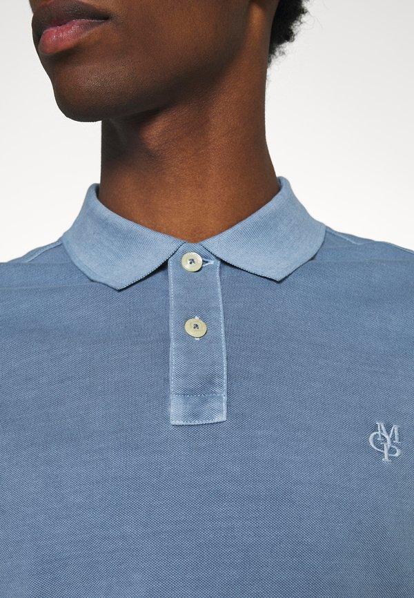 Marc O'Polo SHORT SLEEVE BUTTON PLACKET - Koszulka polo - kashmir blue/jasnoniebieski Odzież Męska OEAS