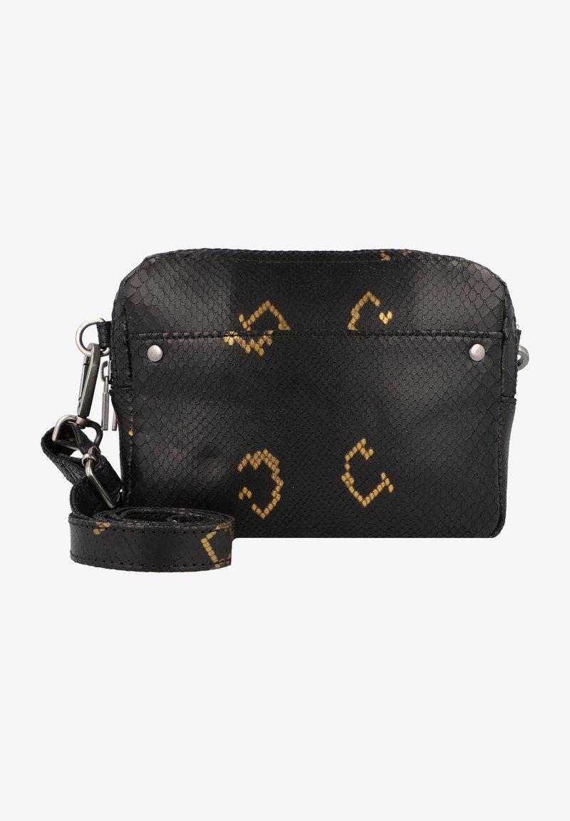 Cowboysbag - BOBBIE - Across body bag - snake black/gold
