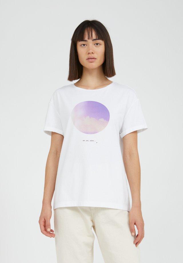 NAALIN - T-shirt print - white
