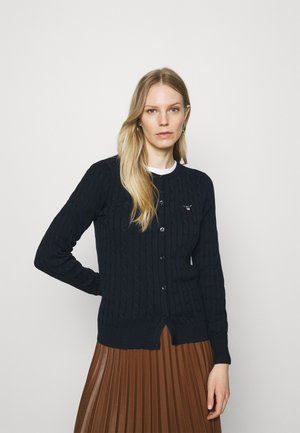 CABLE CARDIGAN - Chaqueta de punto - evening blue