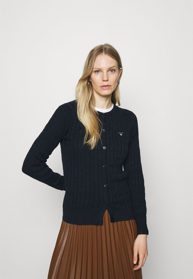 CABLE CARDIGAN - Gilet - evening blue