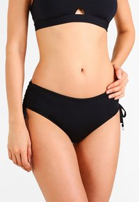 Seafolly - ACTIVE RUCHED HIPSTER - Bikini bottoms - black - 0