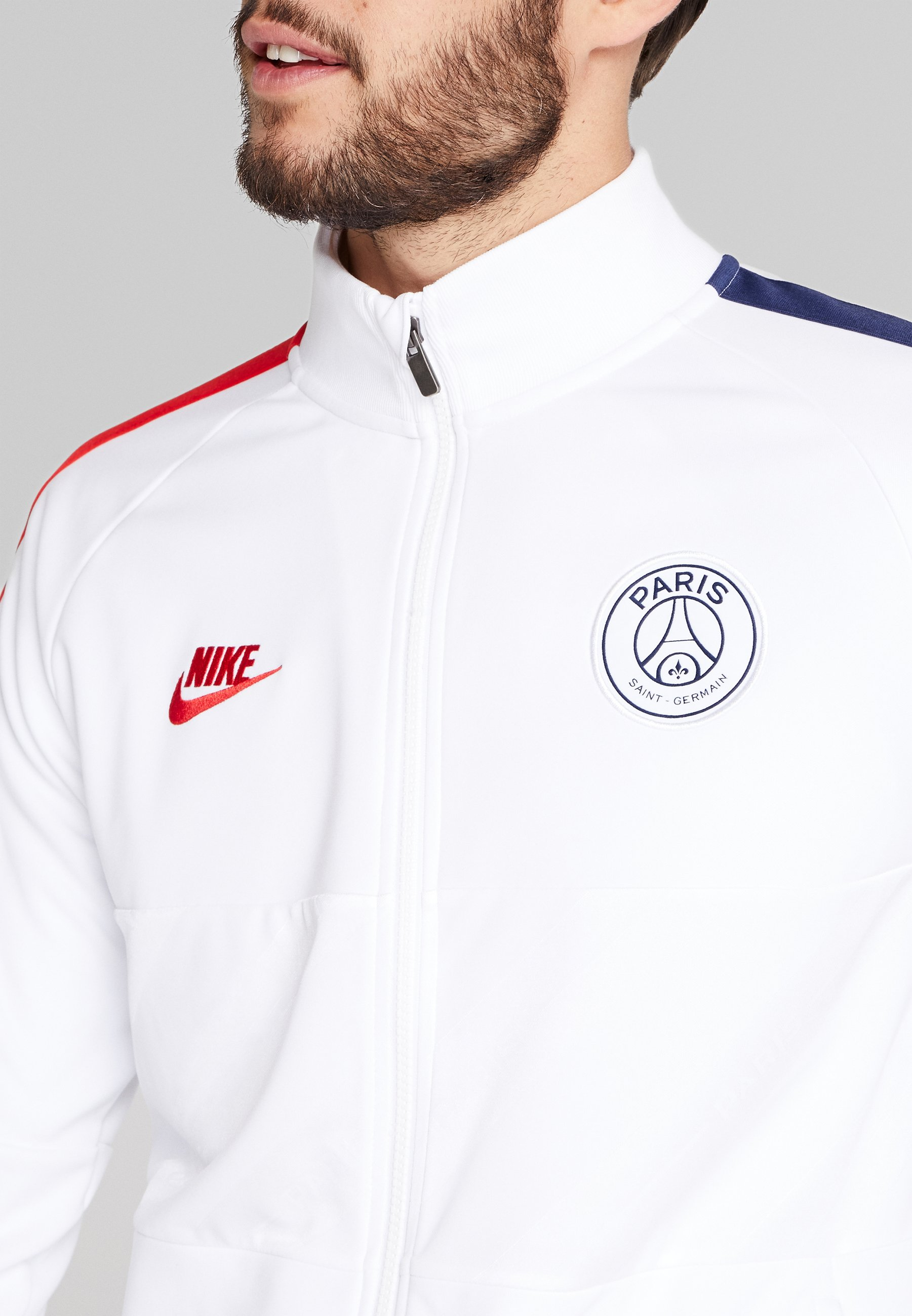 Nike Performance PARIS ST GERMAIN - Veste de survêtement - white/university red