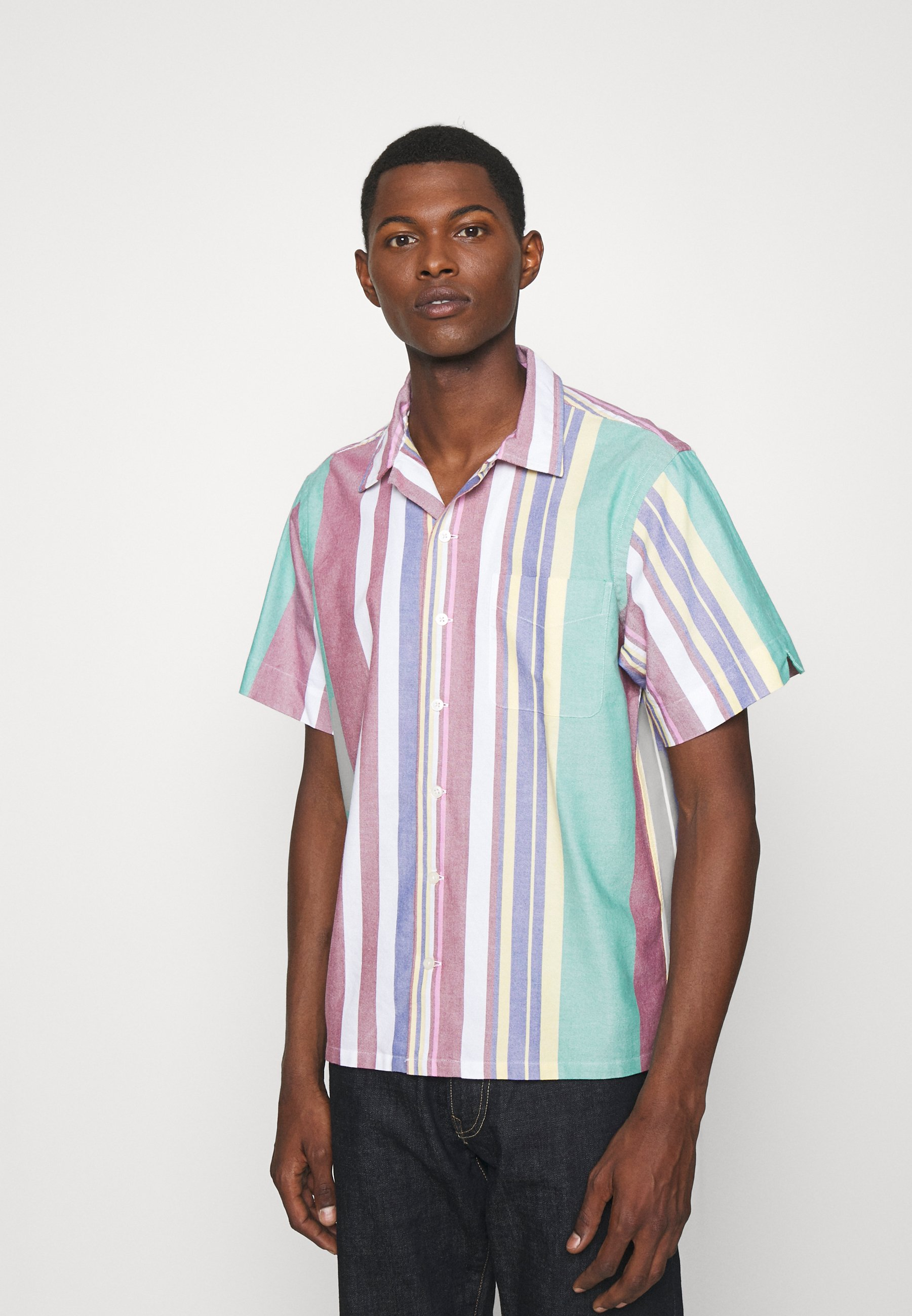 Homme CLASSIC FIT STRIPED OXFORD CAMP SHIRT - Chemise