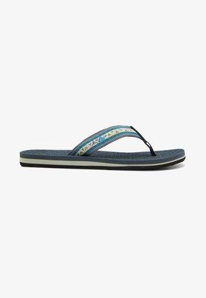 HILLCREST - T-bar sandals - petrol