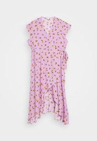 Lost Ink Plus - FLORAL WRAP DRESS - Day dress - purple - 4