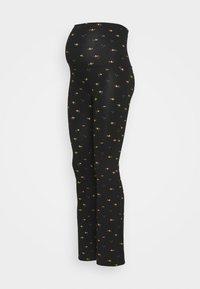 LOVE2WAIT - PANTS FLARED FLOWERS - Leggings - Trousers - black - 0