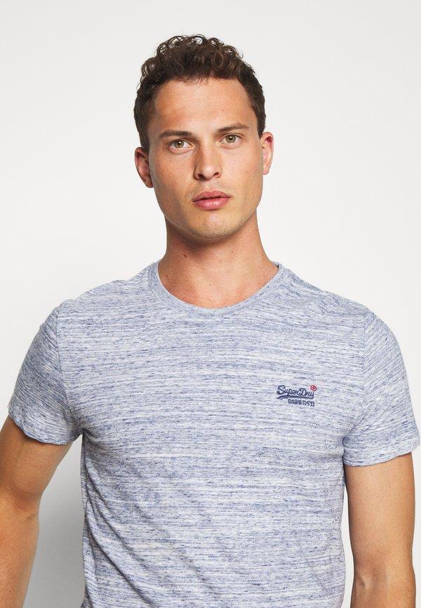 Superdry VINTAGE EMBROIDERY TEE - T-shirt z nadrukiem - mist blue space/jasnoniebieski Odzież Męska QIGD
