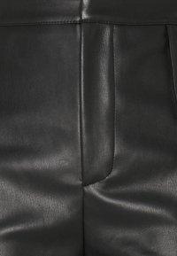Missguided - PU TIE CUFF TROUSER - Trousers - black - 2