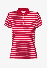 SHORT SLEEVE SLIM STRIPE - Poloshirt - red/white