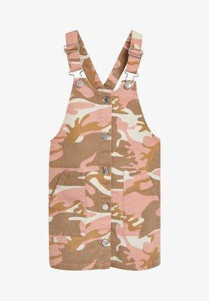 FLORAL DENIM PINAFORE (3-16YRS) - Day dress - pink